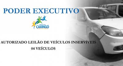 Câmara Municipal autoriza venda de veículos inservíveis do município de Caxingó - Estado do Piauí