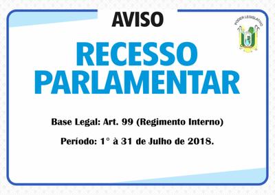 Parlamentares do município de Caxingó(PI) entrarão de recesso em 1° de Julho de 2018